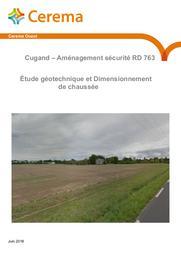 Cugand - Aménagement sécurité RD 763. Étude géotechnique et Dimensionnement de chaussée | COLLOBERT, Michel. Auteur