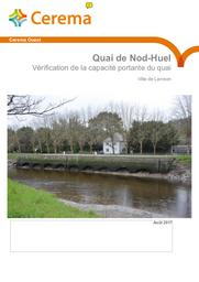 Lannion. Quai de Nod-Huel. Vérification de la capacité portante | BOULAIRE, Pascal. Auteur