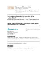 Stratégies d'adaptation et réduction de la vulnérabilité : Exemples de l'évolution des rives dans la vallée du Rhône et de la Saône | JOUANNIC, Gwenaël. Auteur