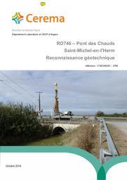 RD746 - Pont des Chauds- Saint-Michel-en-l'Herm : Reconnaissance géotechnique | LANDRY, Benjamin. Auteur