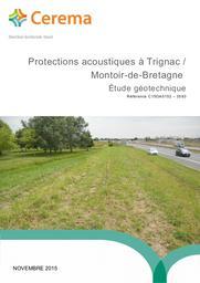Protections acoustiques à Trignac / Montoir-de Bretagne : Etude géotechnique | LANDRY, Benjamin. Auteur