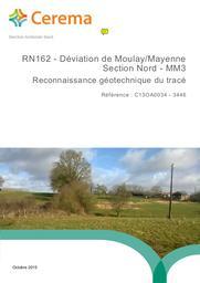 RN162 Déviation de Moulay Mayenne section nord MM3 : reconnaissance géotechnique du tracé | MARTIN, Emmanuelle. Auteur