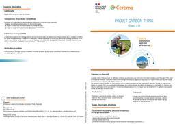 Projet Carbon Think. Grand Est   REFFET, Frédérique. Auteur