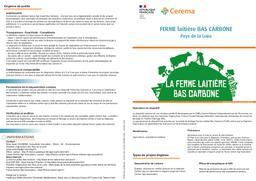 Ferme laitière Bas Carbone (Pays de la Loire)   REFFET, Frédérique. Auteur
