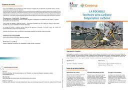 La Rochelle Territoire zéro Carbone. Coopérative Carbone   REFFET, Frédérique. Auteur