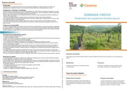 Normandie Forêver. Revalorisation des peuplements forestiers pauvres   REFFET, Frédérique. Auteur