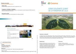 Fonds de solidarité climat de la fondation de Lille   REFFET, Frédérique. Auteur