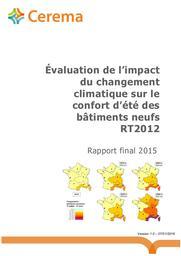 Évaluation de l'impact du changement climatique sur le confort d'été des bâtiments neufs RT2012. Rapport final 2015   FURST, Nathalie. Auteur