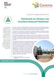 Construire ou rénover une structure d'accueil Alzheimer : La qualité d'usage des bâtiments. Série de fiches. Fiche n°8   Cerema. Centre d'études et d'expertise sur les risques, l'environnement, la mobilité et l'aménagement (Administration). Auteur