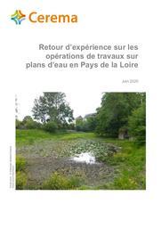Retour d'expérience sur les opérations de travaux sur plans d'eau en Pays de la Loire | GATELIER, Sébastien. Auteur