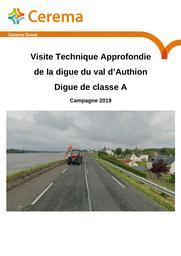 Visite Technique Approfondie de la digue du val d'Authion : Digue de classe A. Campagne 2019 | LEMASSON, Vincent. Auteur